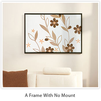a frame with no mount