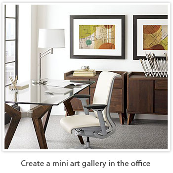 create a mini art gallery in the office