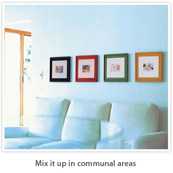 mix it up in communal areas