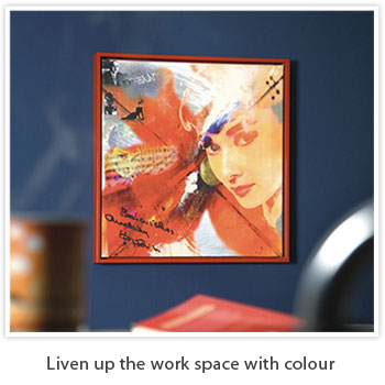 liven up the work space with colour
